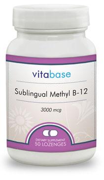 Sublingual Methyl B-12 (3000 mcg)